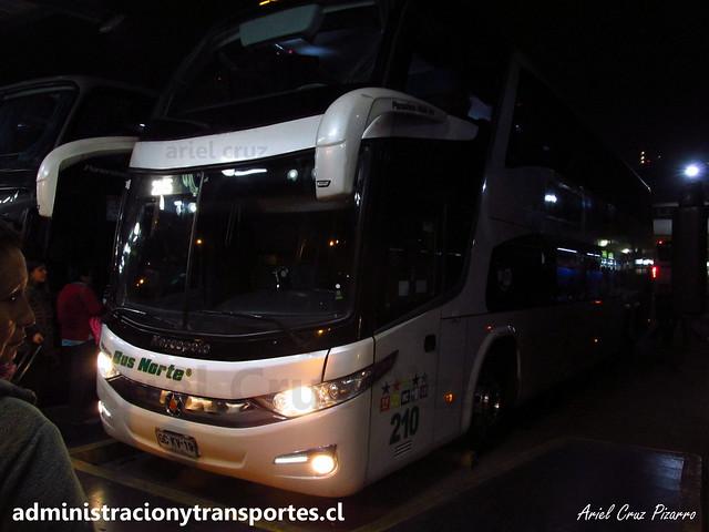 Bus Norte (Cama Ejecutivo) | Santiago - Terminal Sur | Marcopolo Paradiso 1800 DD G7 - Volvo / GCKV19 - 210