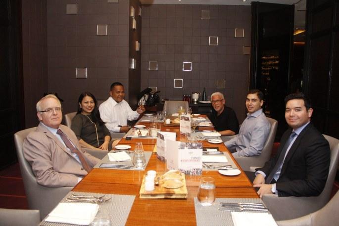 Alan Hearn of Arcadis, Patti Javier, Anton Diaz, Raul Manzano, Michael Hearn of Arcadis, Christian Valdes of CMBV Confectionaires Co.