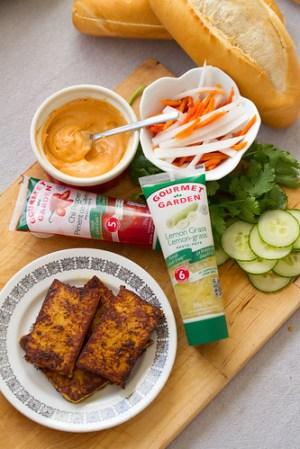Ingredients for Lemongrass Tofu Banh Mi