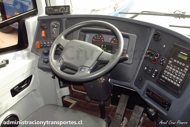 Talca París & Londres N° 6030 | Cabina del Bus | Modasa Zeus 3 - Volvo B420R 8x2 / HTRF41