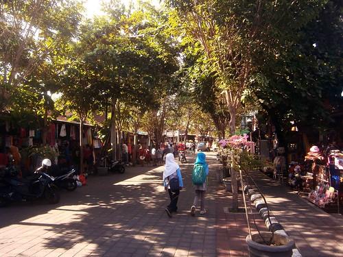 Street in Tanah Lot Bali