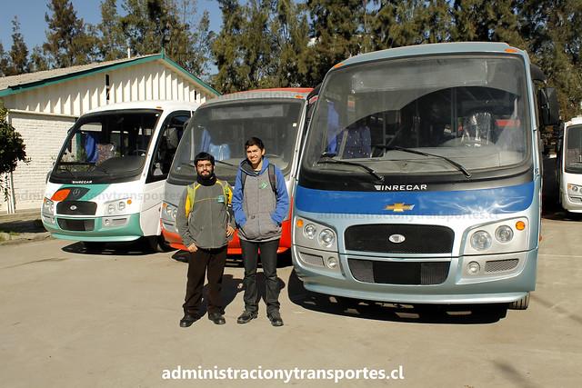 Ariel Cruz y Jaime Sepúlveda en fábrica Inrecar