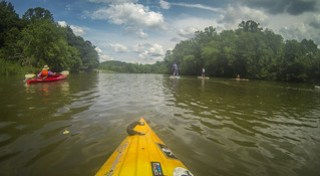 Kayaking and SUP on Saluda Lake-86