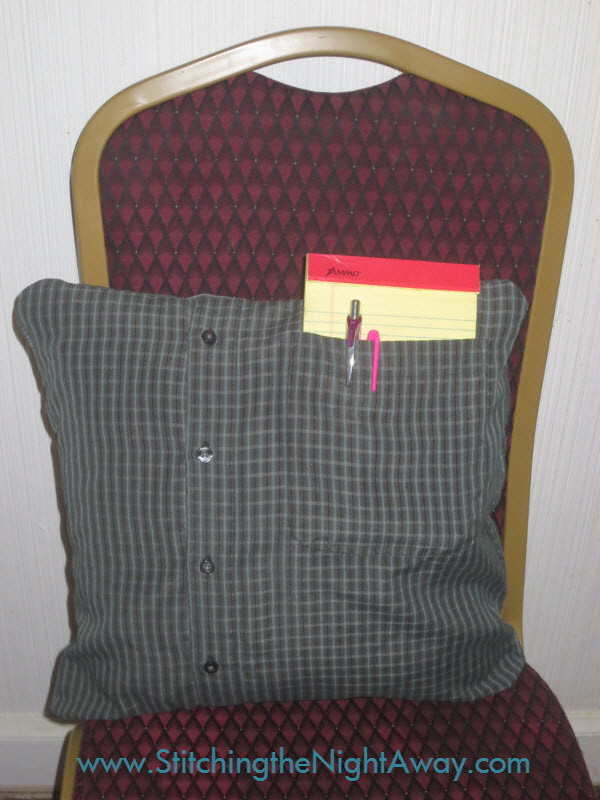 Pocket Pillow from an Old Shirt, Easy Upcycling Project with Minimal Sewing