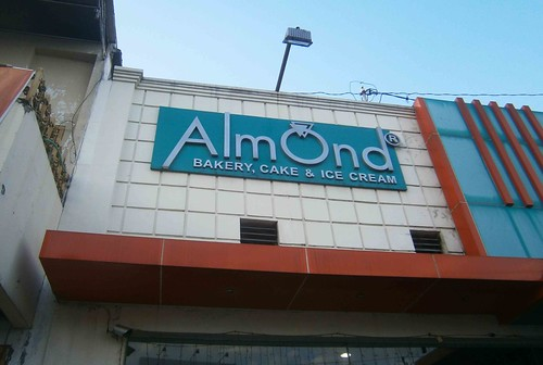 Almond Bakery Cake and Ice Cream