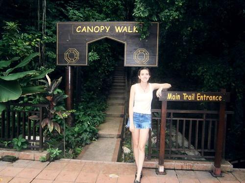 Briana at the Canopy Walk Entrance