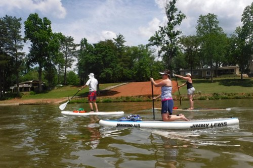 Kayaking and SUP on Saluda Lake-7