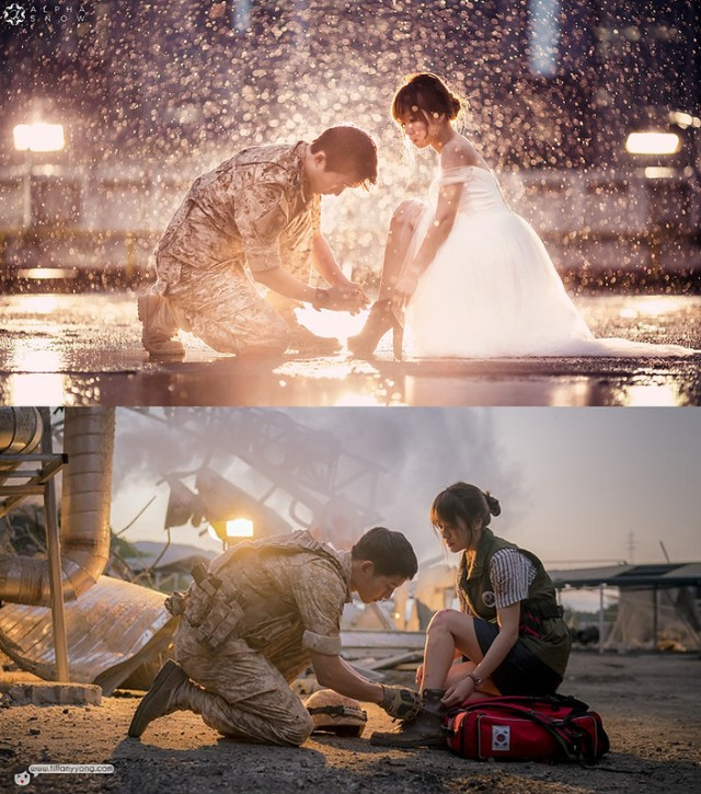 Korean Descendants of The Sun Ep7 Tie Shoelace
