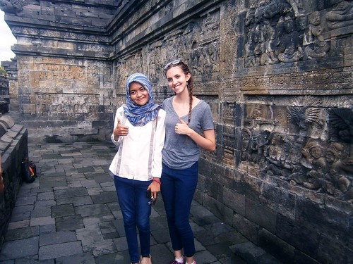 Borobodur Picture with Indonesian