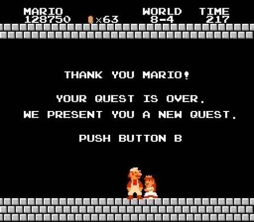 Super Mario end game
