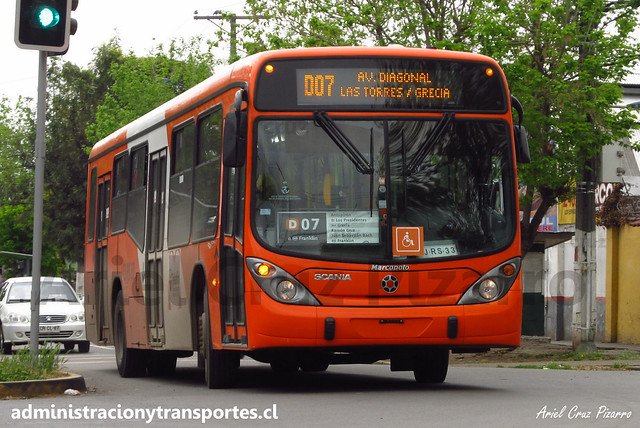 Transantiago D07   Express   Marcopolo Gran Viale - Scania / CJRS33