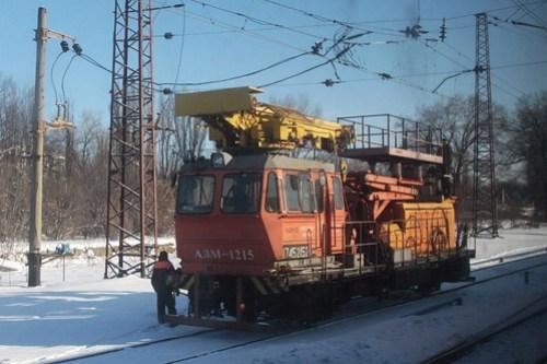 Ukrainian Railways 'АДМ-1215' class overhead line inspection vehicle