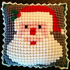 Crochet Inspiration Crochet Santa Bobble Pillow