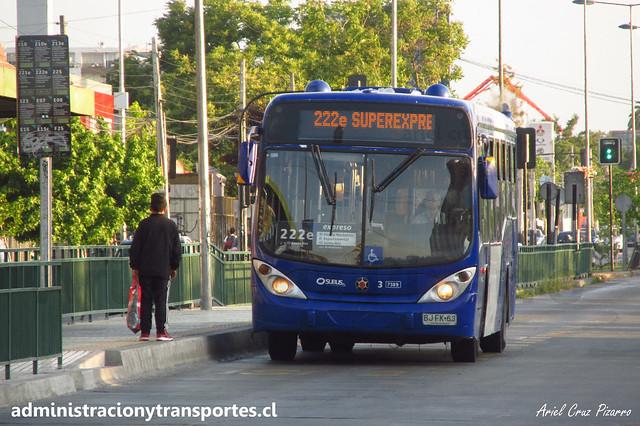 Transantiago 222e | Subus Chile | Marcopolo Gran Viale - Volvo / BJFK63 - 7389