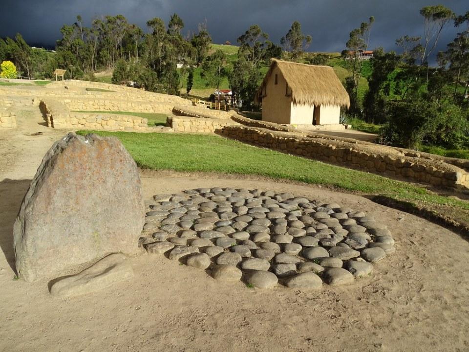Tumba colectiva Pilaloma Choza Cañaris Ingapirca Ecuador