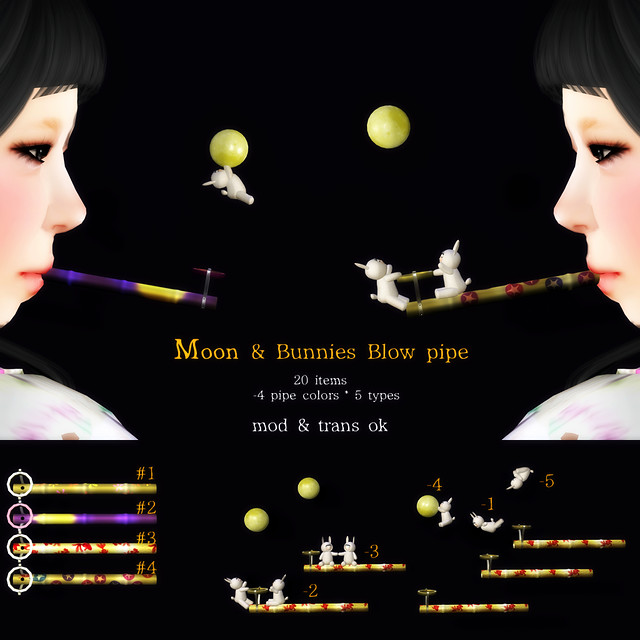 *NAMINOKE*MOON & BUNNIES PIPE GACHA