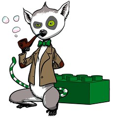 Lemur with Jacket and Pipe
