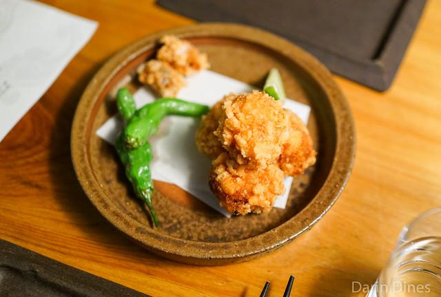 "crispy monkfish ""kara-age"", citrus, kelp salt"