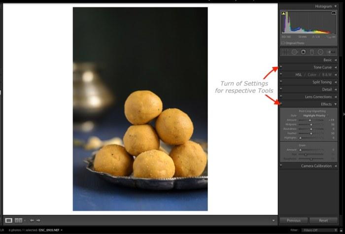 Lightroom Tutorial for Food photos, Lightroom tutorial, Editing RAW files in Lightroom,  Lightroom Food Tutorial, How to edit food photos in Lightroom,  Vignette Effect in Lightroom,