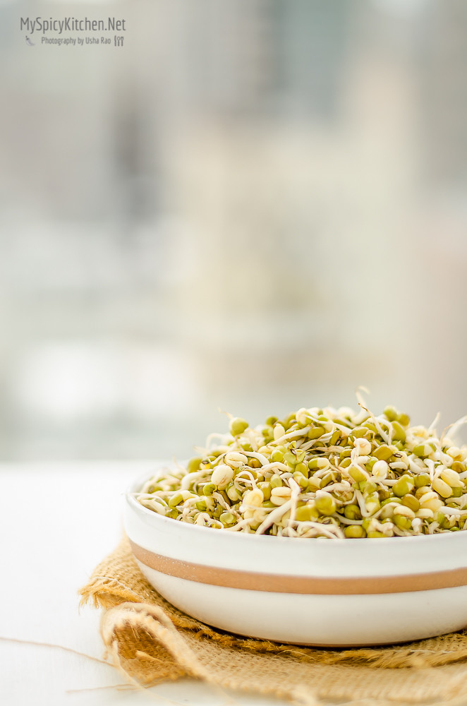Homemade Sprouts, Moong Beans Sprouts, Pesarlu,