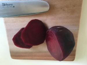 arepas beets sliced