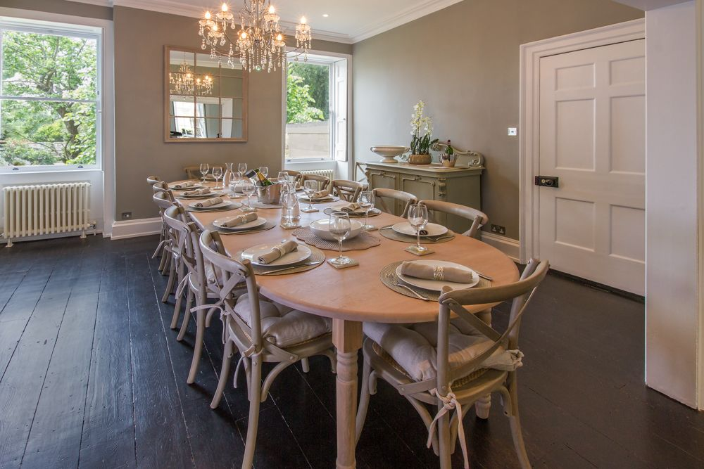 Dining room to seat up to 16 with stunning views over the garden