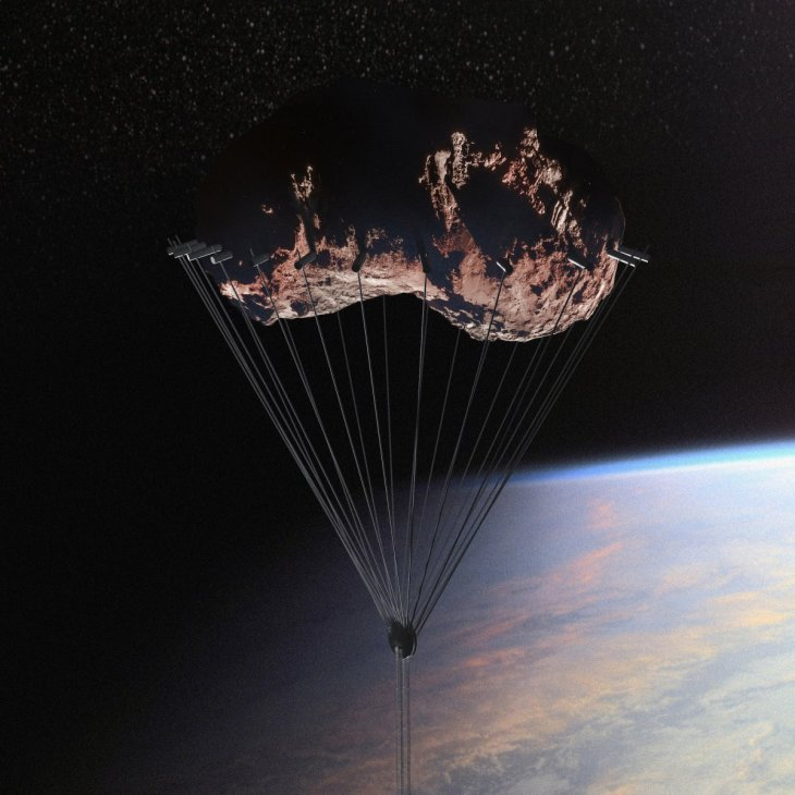 it-would-hang-from-an-orbiting-asteroid-at-approximately-50000-kilometers-above-ground-level