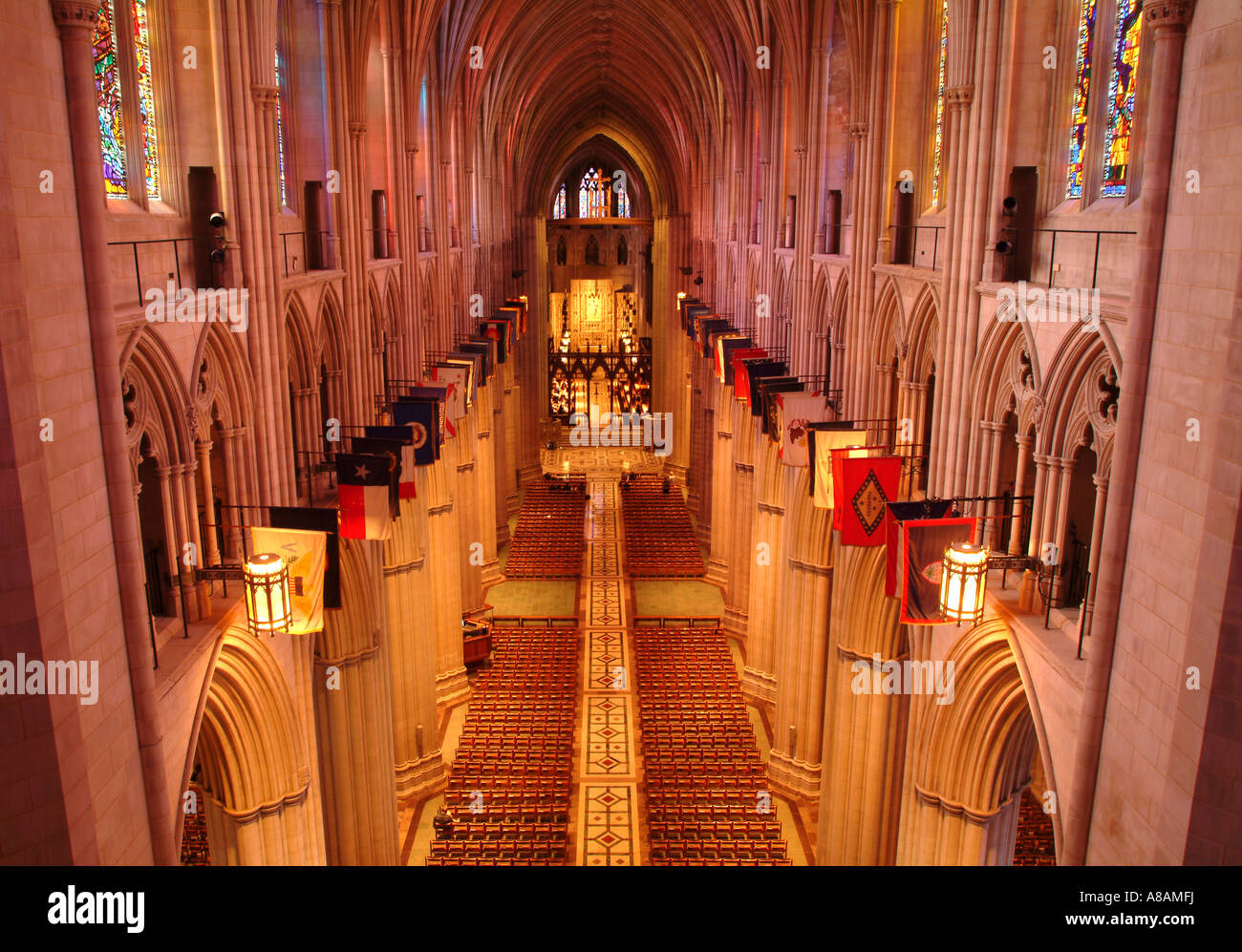 Usa Washington Dc Washington National Cathedral Interior