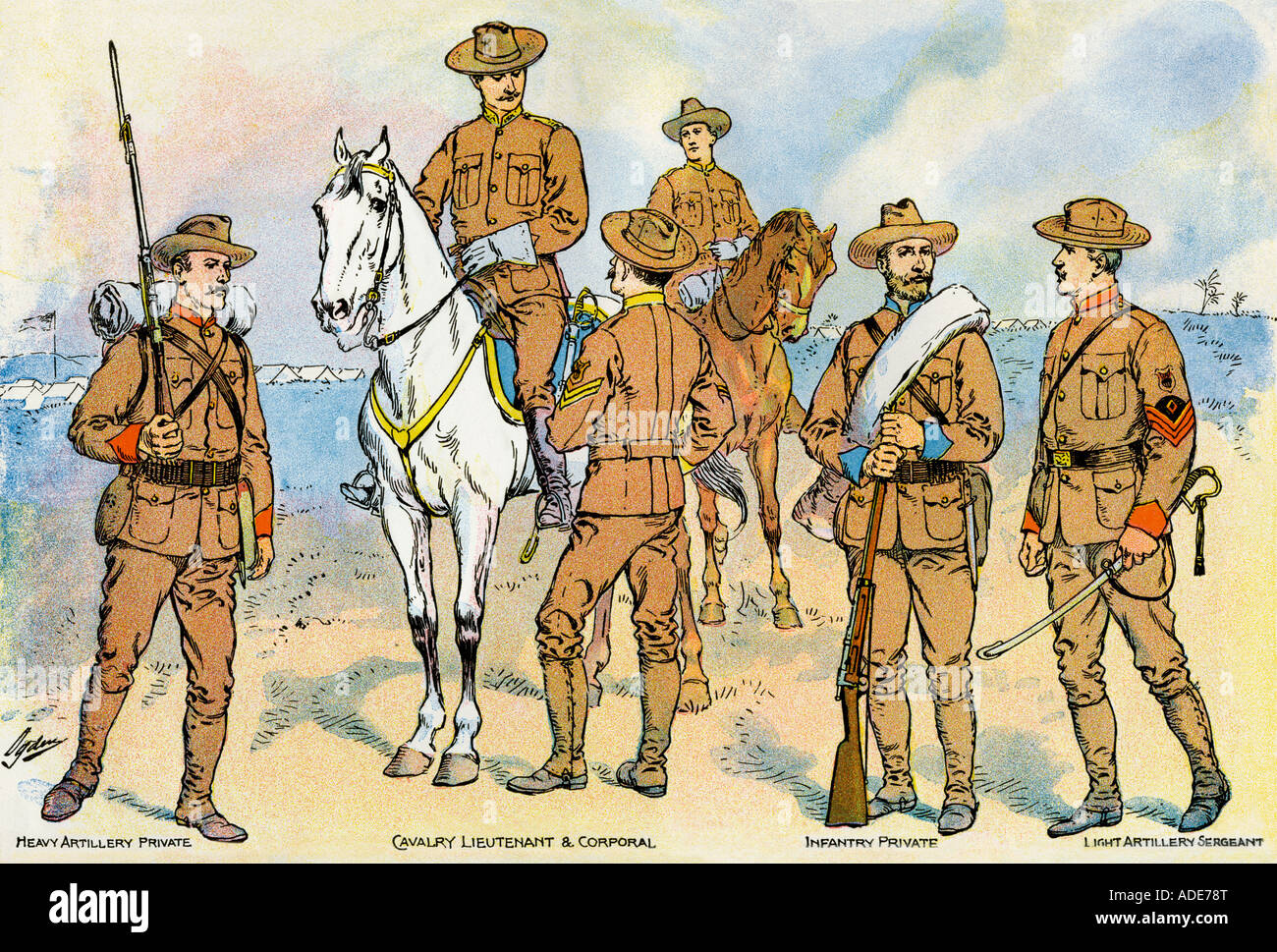 New Uniforms For Us Troops At The Outset Of The Spanish