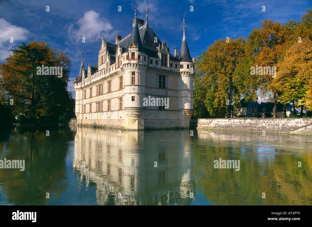 Chateau Azay Le Rideau Indre Et Loire Val Du Loire France