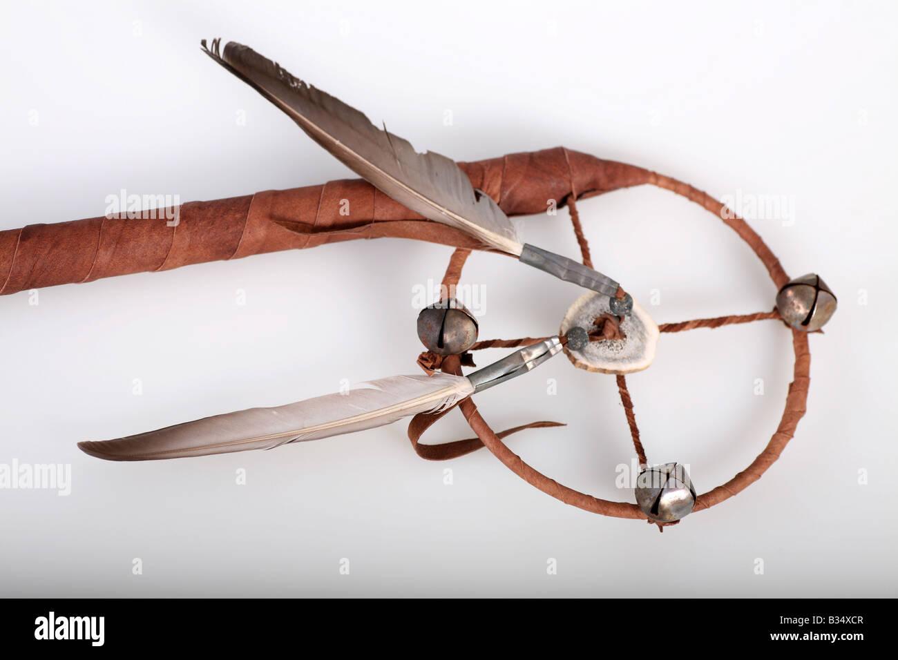 Native American Navajo Medicine Wheel On A White