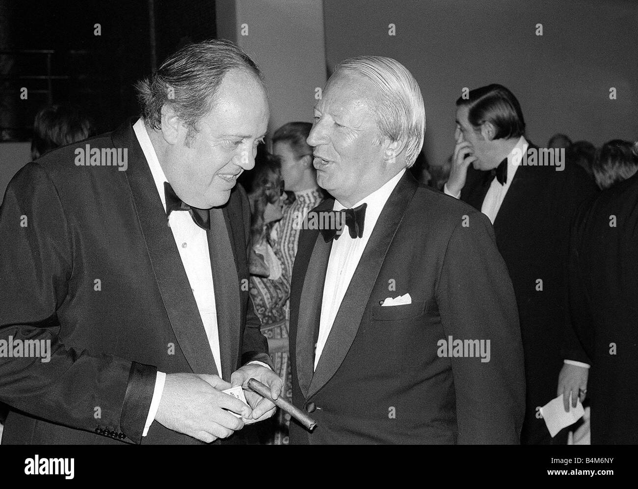 Edward Ted Heath Christopher Soames at the Young Winston Film Premiere July 1972 Stock Photo