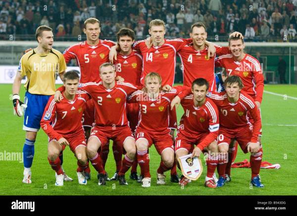 Russia national football team in October 2008 Stock Photo ...