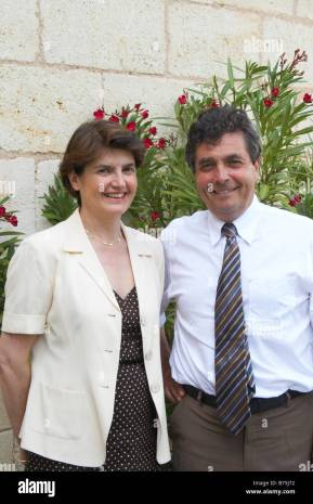 Denis Dubourdieu and his wife Florence bordeaux france Stock Photo