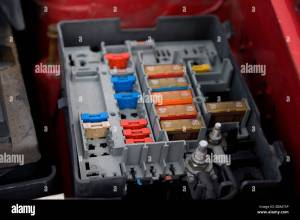 Citroen Berlingo Fuse Box Stock Photo: 25645586  Alamy