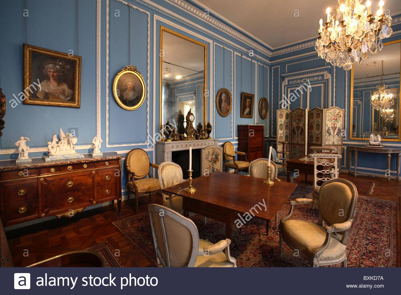 Salon Bleu Louis XVI In Musee Carnavalet Paris Stock
