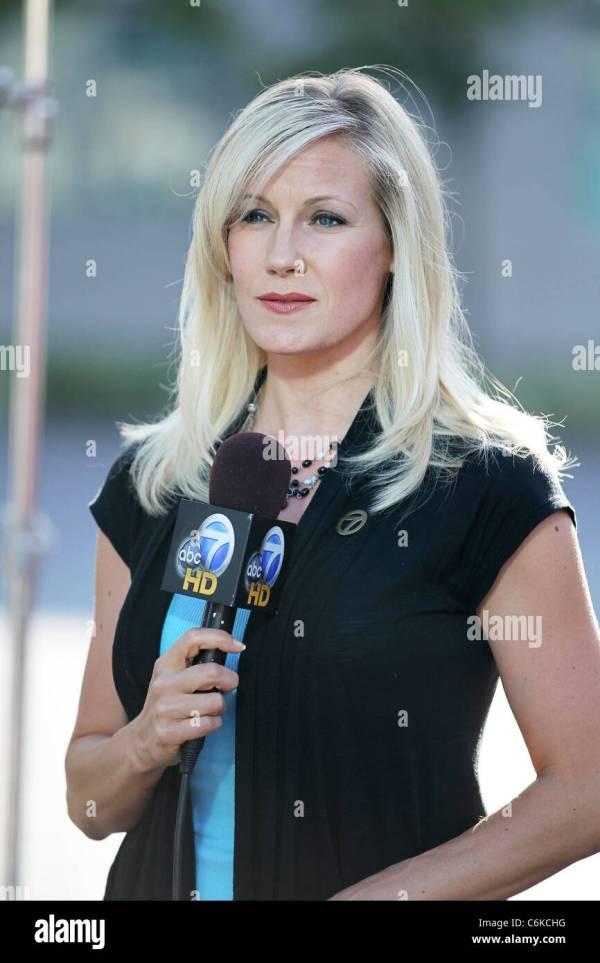 ABC TV reporter in LA Melissa McBride Los Angeles, USA ...