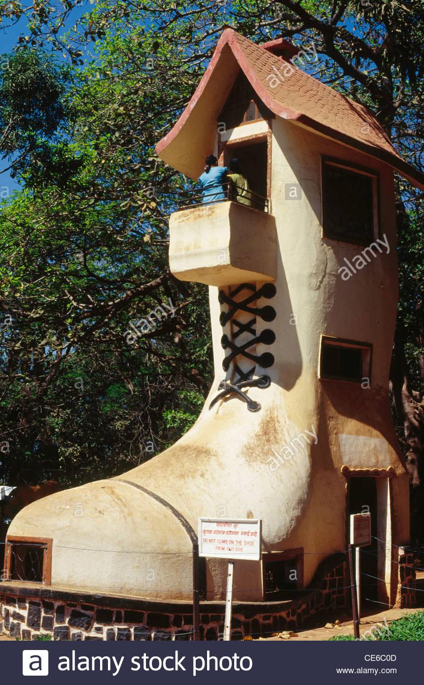 Shoe house of old lady for children ; Kamala Nehru Park ; bombay mumbai ; maharashtra ; india Stock Photo