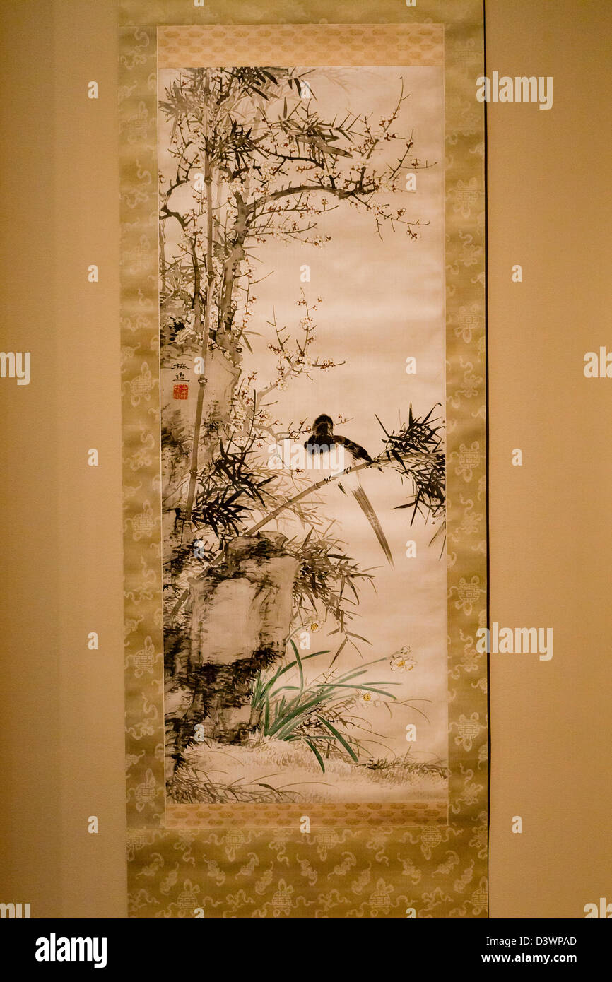 Paintings Asian Scroll Antique Bamboo