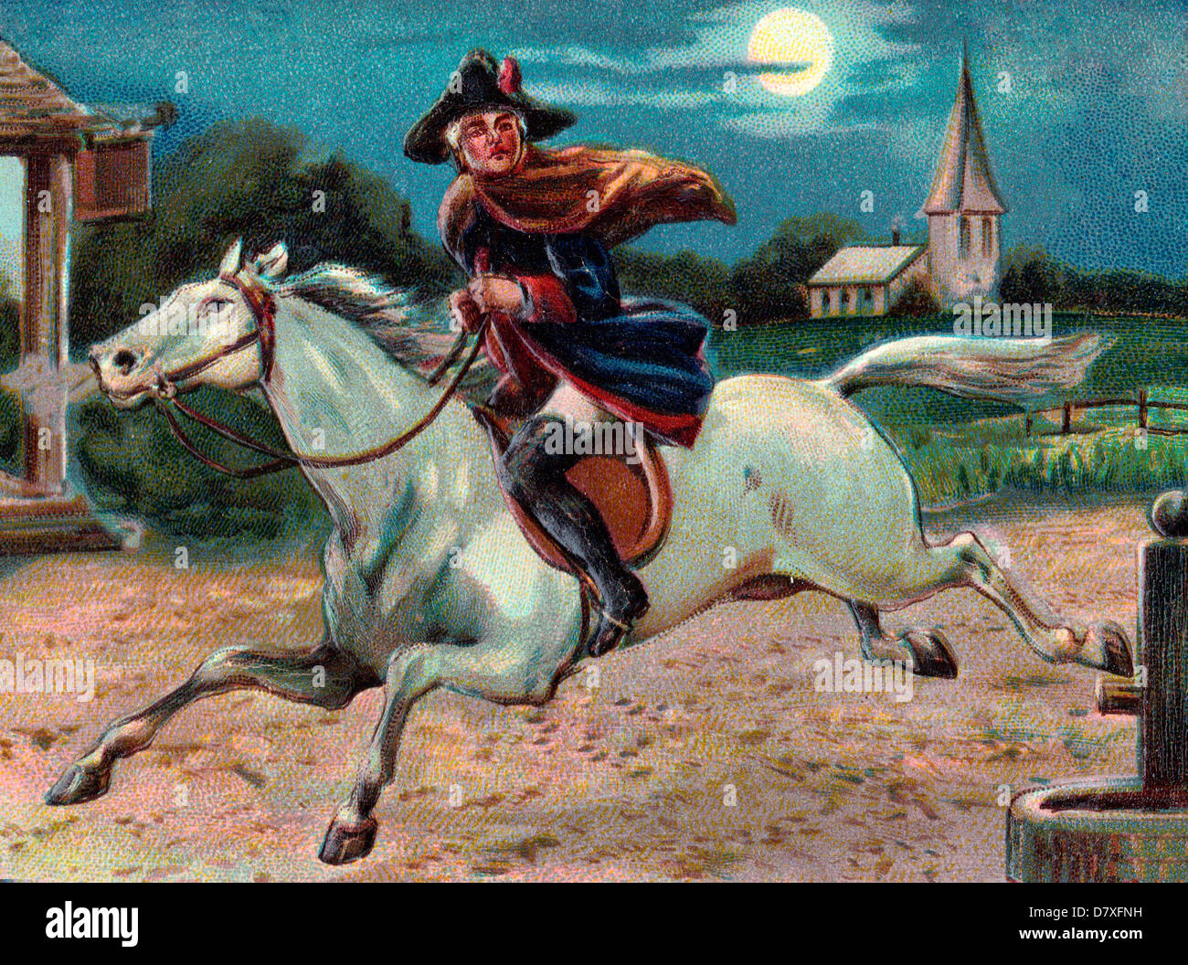 Paul Revere S Ride April 18 Stock Photo Royalty