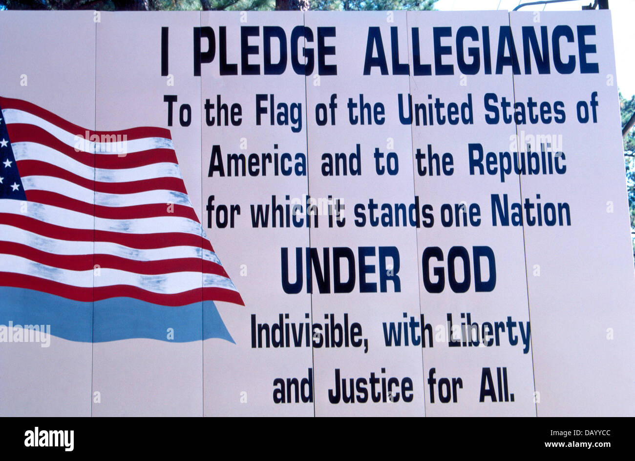 A Patriotic Sign With The Words To The United States Of