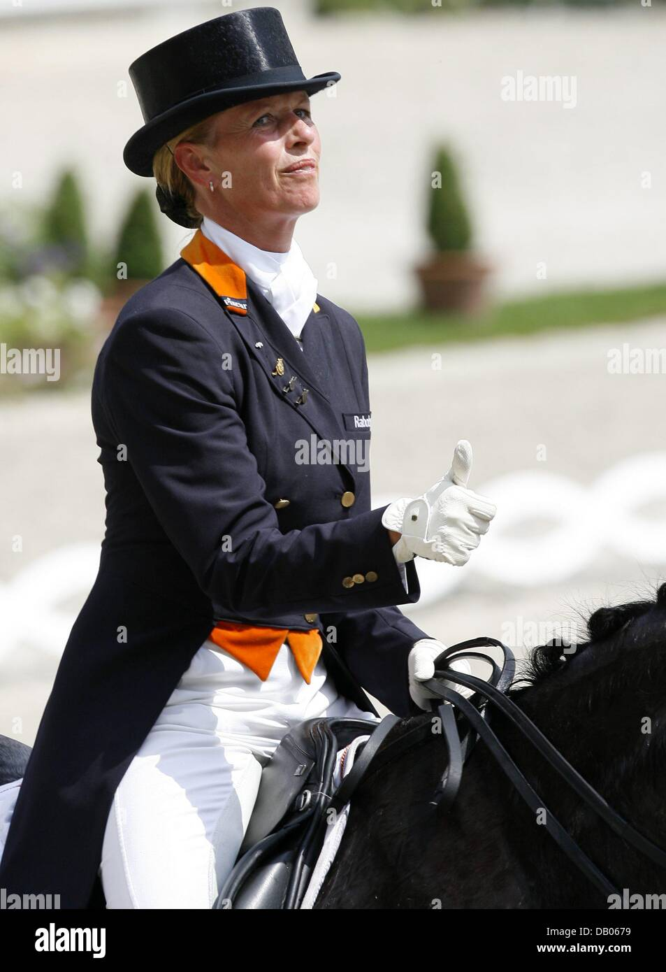 Dutch Dressage Rider Anky Van Grunsven On Her Horse