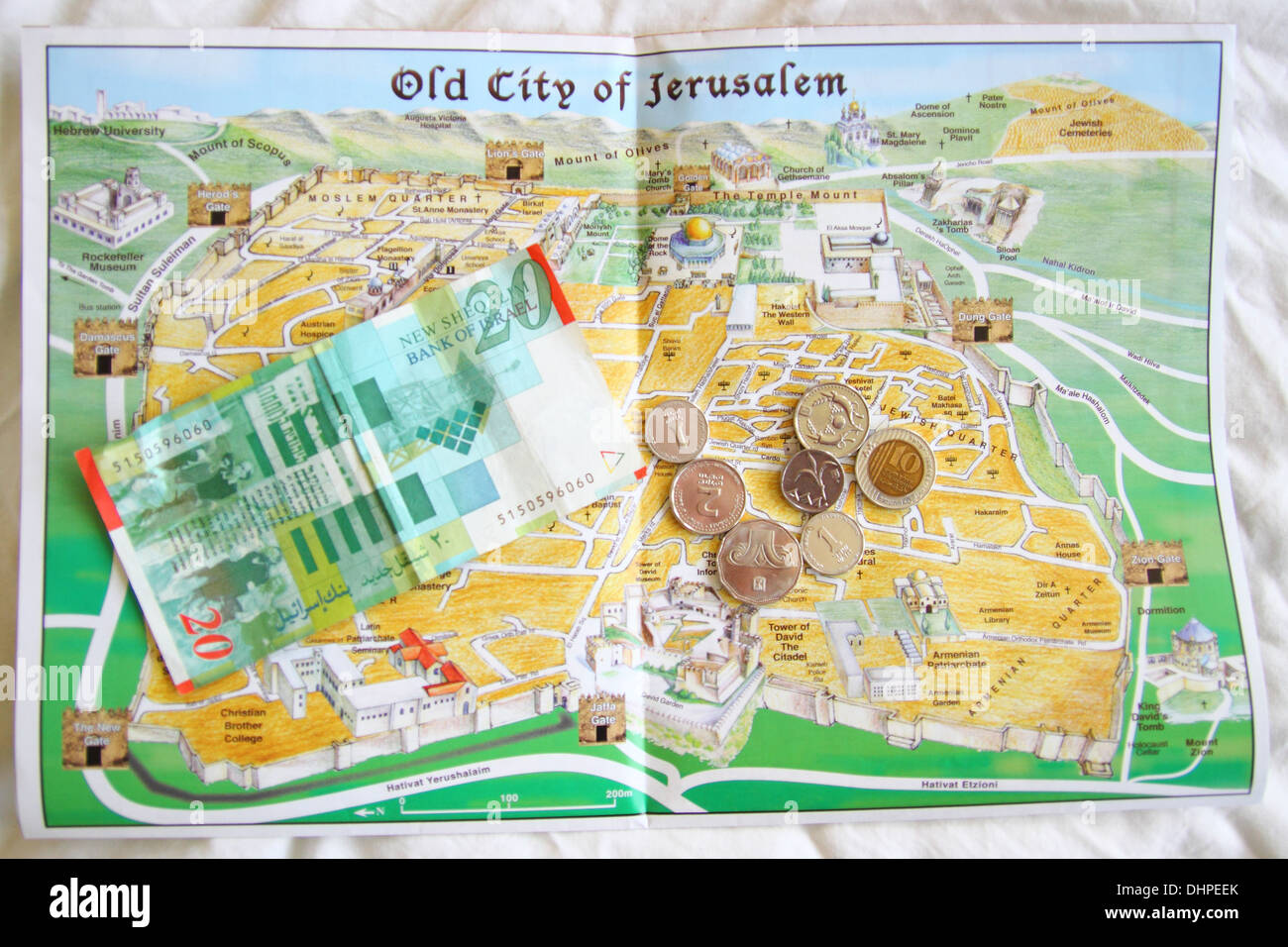 This Is Map Of The Old City Of Jerusalem In Israel With The Ancient Stock Photo Royalty Free
