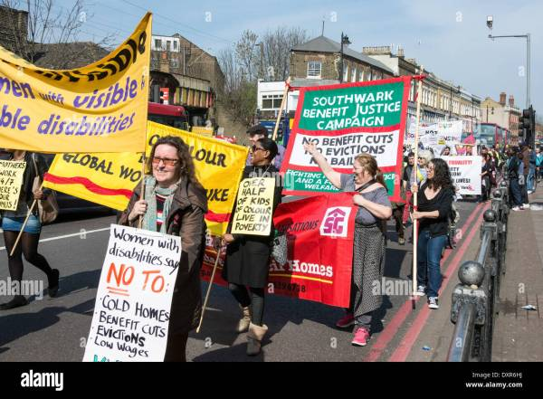 29 March 2014, Tottenham, London UK. Campaigners and ...