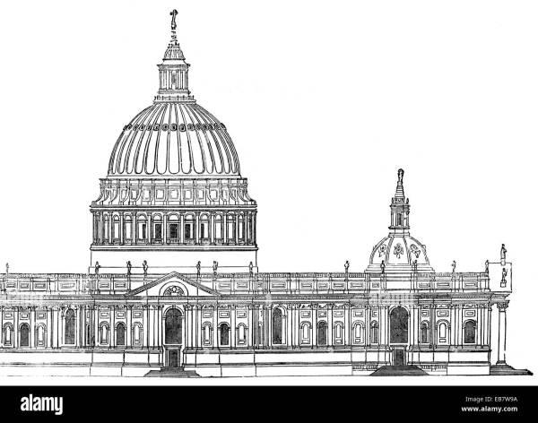 Sir Christopher Michael Wren's first design for St Paul's ...