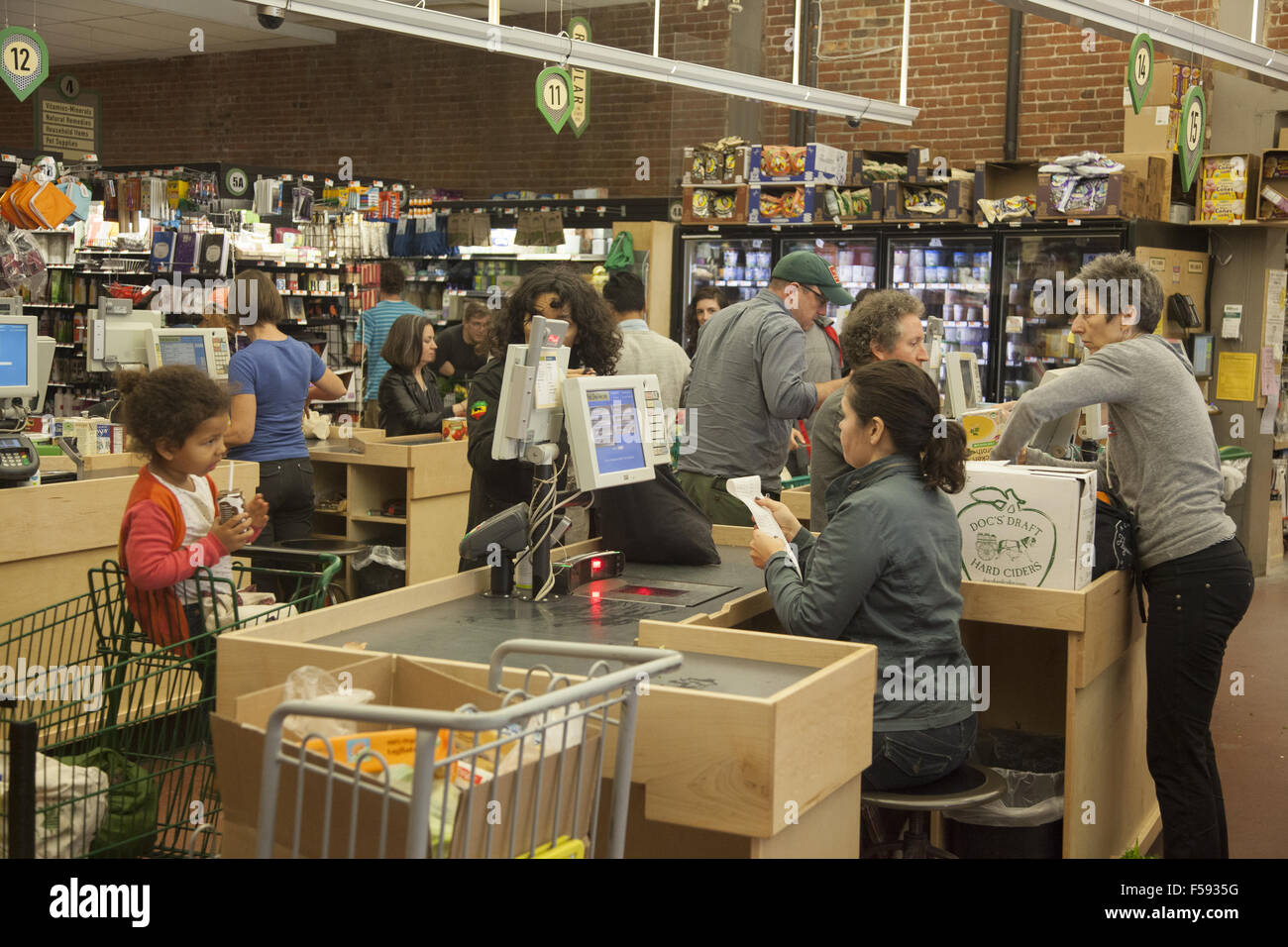 Grocery Store Check Out Counters