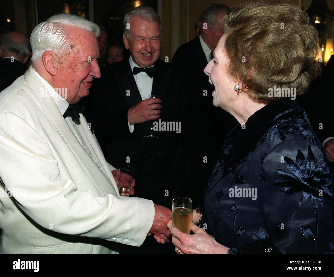 Heath & Thatcher Tory dinner Stock Photo