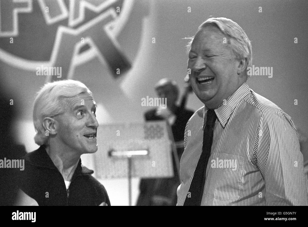 Television - Jim'll Fix It - Edward Heath - BBC Shepherd's Bush Theatre, London Stock Photo