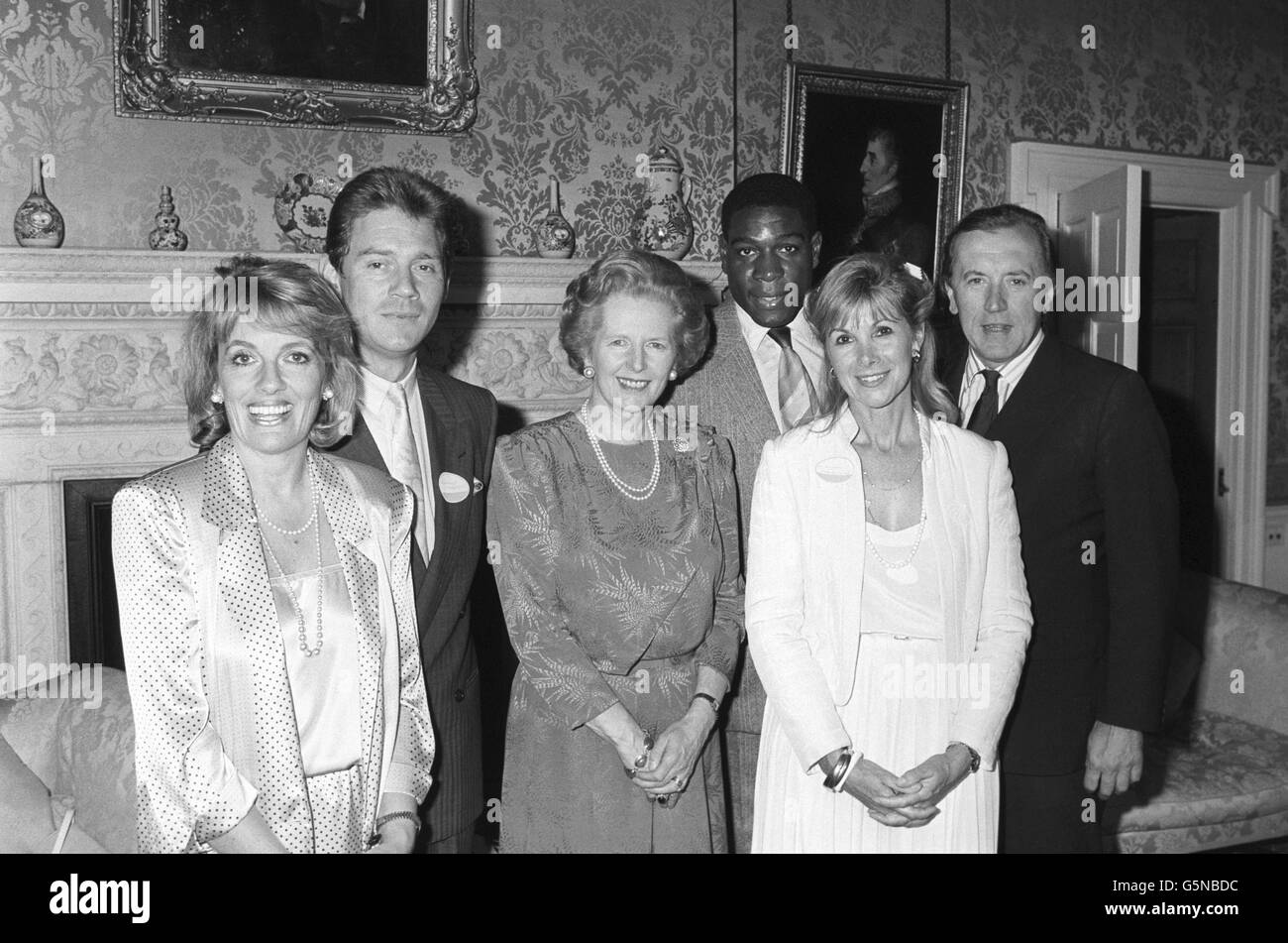 News - Prime Minister Margaret Thatcher at a reception thanking supporters of Childline - Downing Street - London Stock Photo