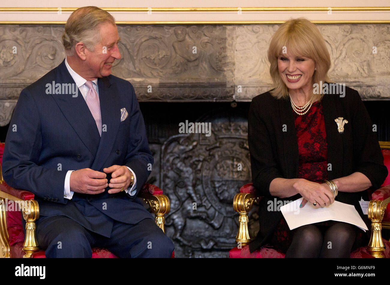 Prince Charles presents arts awards Stock Photo